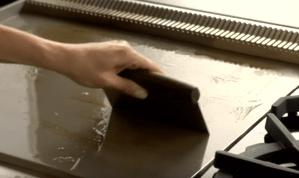 how to clean a wolf range griddle