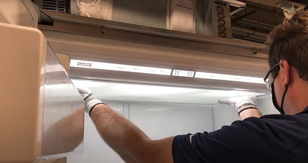 how to change light bulb in sub-zero refrigerator