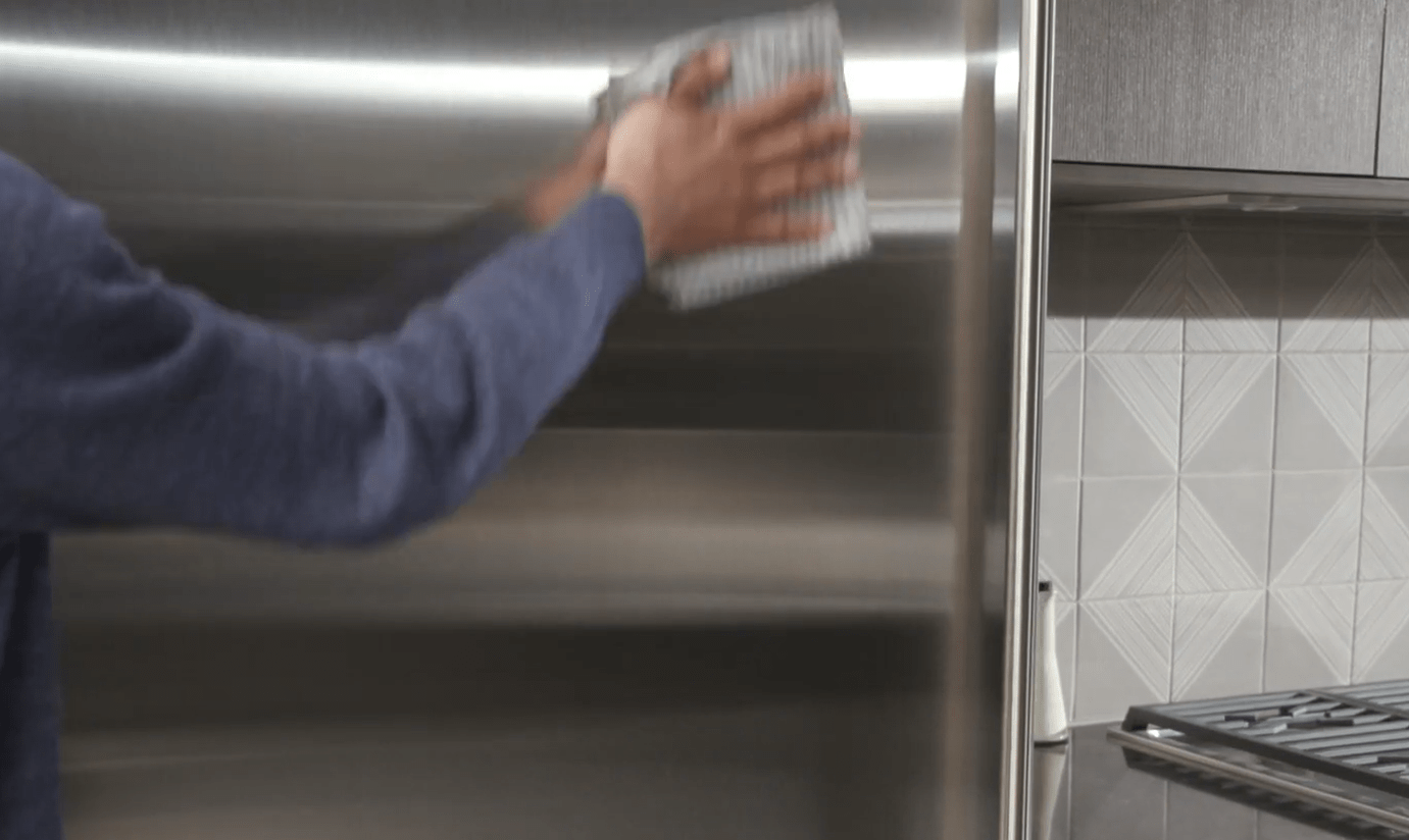 how to clean Sub-Zero refrigerator